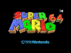 Super Mario 64 - Intro Screen