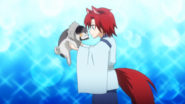 Ranmaru with dog