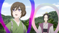 Aoi and Ritsuko with hagoromo shawl ep10