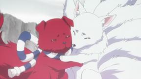 Ranmaru and Ginji hug