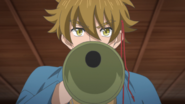 Hideyoshi yelling