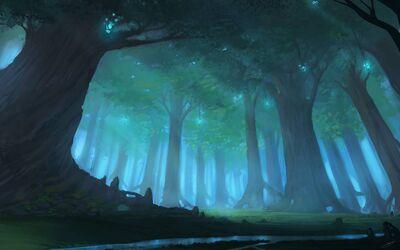 A forest by jjcanvas d4yepov-pre