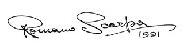 Romano Scarpa autograf