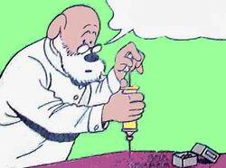Läkare fyller spruta