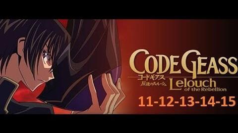 Code Geass - Season 1 - EP 11-12-13-14-15 English Dubbed Full HD