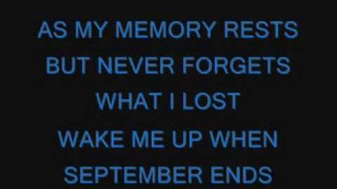 Green Day-Wake Me Up When September Ends lyrics