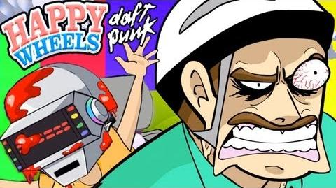 """""""GET BLOODY"""" - Daft Punk Happy Wheels Parody (Animated """"Get Lucky"""" Spoof)"""