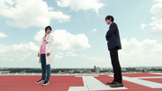 Kuroto talks with Emu
