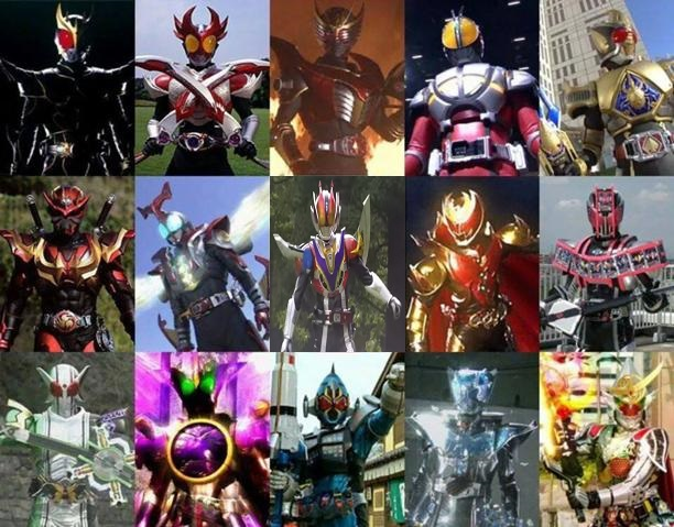 Image - Final Forms of Kuuga-Gaim.jpg | Kamen Rider Wiki | FANDOM ...