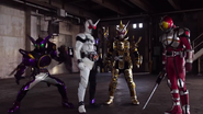 Kamen Rider Grand Zi-O summons OOO, Faiz & Double