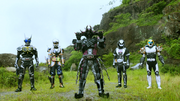 Four Movie Riders summoned