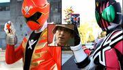 Kamen Ride and Gokai Change