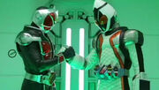 Wizard and Fourze in net movie