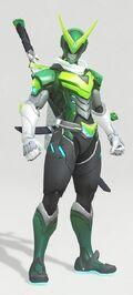 Overwatch Genji Kamen Rider Skin