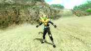 Kamen Rider Diend summons Caucasus in Battride War Genesis