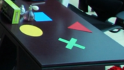 Playstation button symbols on Genm Corp desk