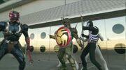 Hibiki vs. Doras and Combatmen