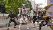 AR Agito Gaim Den-O summoned