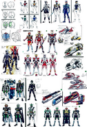 Den-O Early Design Compilation
