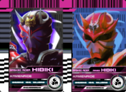All Hibiki Rider Cards