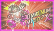God Maximum Mighty X Start Screen
