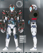 Kamen Rider Vulcan Punching Kong concept Art