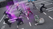 Zi-O & Geiz fight in Heisei Generations Forever