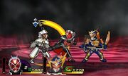White Wizard vs. Wizard and Gaim in Travelers Senki
