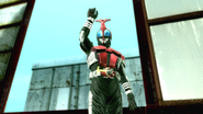 Kamen Rider Kabuto Cast Off intro in Battride War Genesis