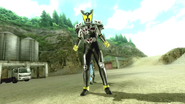 Kamen Rider Diend summons Arc in Battride War Genesis