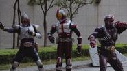 Faiz, Blade & Hibiki in Heisei Generations Forever