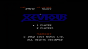 Xevious Game Screen