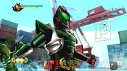 Kamen Rider Kiva Bassha Form in Battride War Genesis