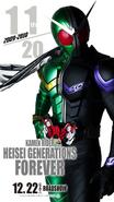 Kamen Rider Heisei Generations FOREVER Double (W) Poster