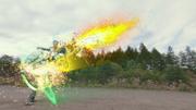 Zangetsu Rider Rocket Drill Kick