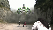 Hibiki, Kiva and Ryuki in Rider War