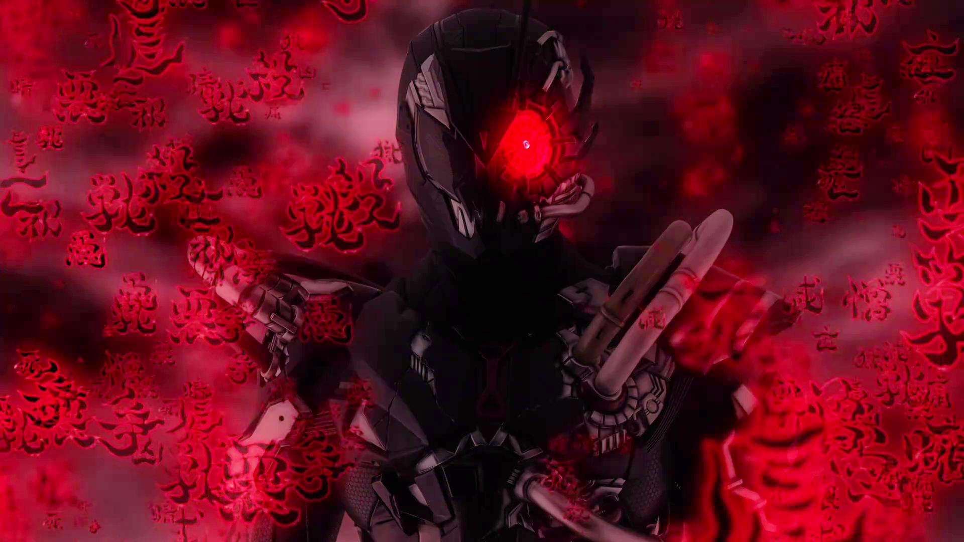 ビジョンの中の仮面ライダーアークゼロ