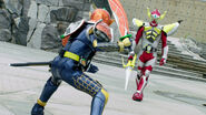 Gaim - Baron face-off
