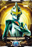 Ultraman X Mirror Knight Card