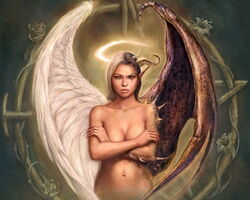 Girl Half Good Half Evil Angel