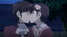 Chihiro kissng keima
