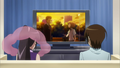 Keima and Elsie are watching the anime.PNG