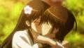 Keima and Kusunoki are kissing.PNG