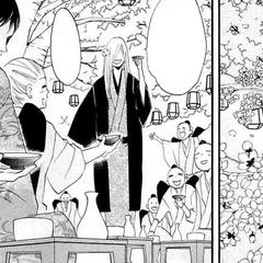Los Tengus celebran el nombramiento de Jirou como Cuarto Jefe.