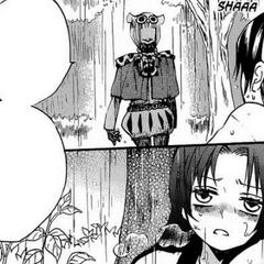 Kirakaburi acorrala a Nanami en el bosque lanzándole un dardo con veneno paralizante.