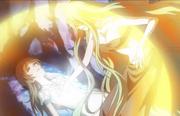 Isohime usando sus poderes