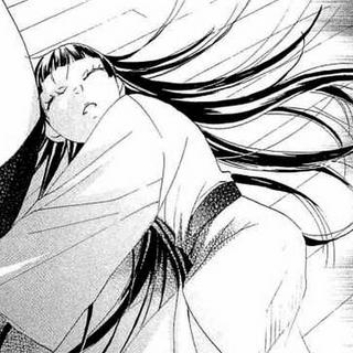 Kayako está muy débil por entregar demasiada energía espiritual al huevo.