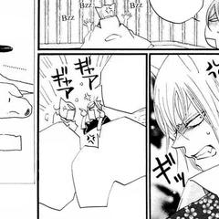 Tomoe discute con Kurama dentro de la prisión fabricada por Jirou.