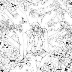 Nanami es depositada por Jirou en el tronco del árbol de cerezo milenario.