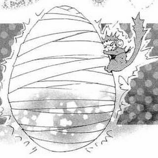 Mamoru selló temporalmente el huevo con su barrera.